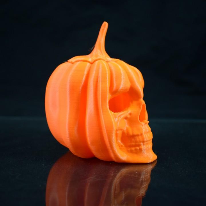 Pumpkin Skull Tealight Lantern