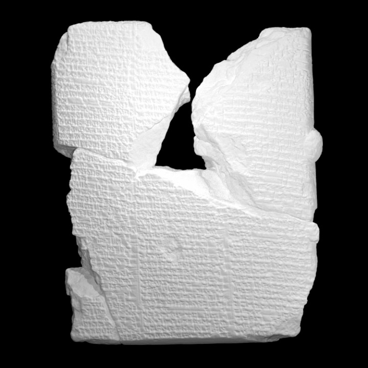 3D Printable Epic of Gilgamesh tablet by IPCH Digitization Lab