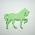Keychain : Horse print image