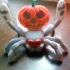 Halloween pumpkin peacock spider image