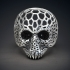 Voronoi Skull Ring for 3d printing image