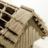Straw roof thatching system for log house, cabin, cottage, etc. image