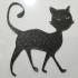 Halloween Black Cat Silhouette image