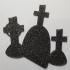 Halloween Tombstones Silhouette image