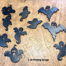 Picture of print of Halloween Ghost Silhouettes