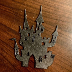 Picture of print of Halloween Castle Silhouette
