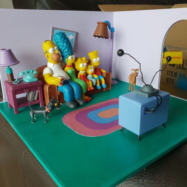 Simpsons couch gag furniture