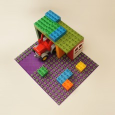 Duplo base 15 x 18 with  5 stud wide road