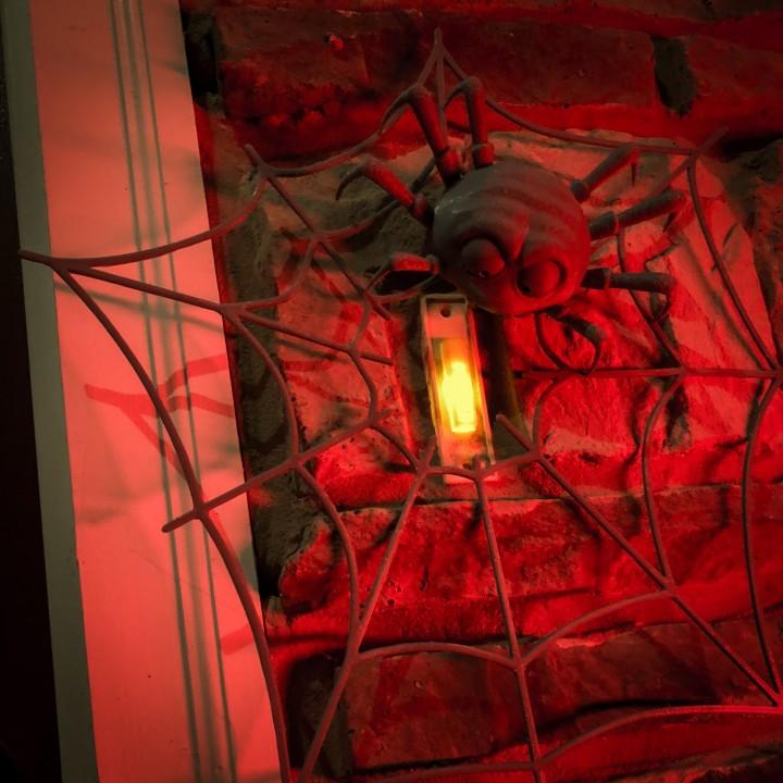 Halloween Spider Doorbell Decoration