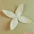 flowers: Ixora - 3D printable model image