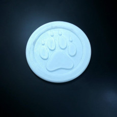 Picture of print of Wolf Paw Print Medallion