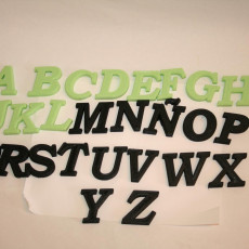 Picture of print of All Letters A-Z Bookman Old Style