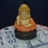 Buddha smiled cheerfully image