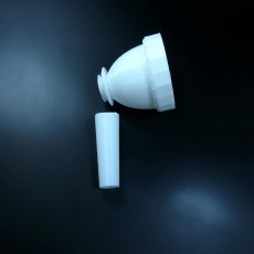 Picture of print of Trombone Mouthpiece 26.26 mm or 1.034 in, throat 21/64