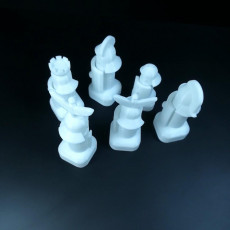 Picture of print of Chess set Romans