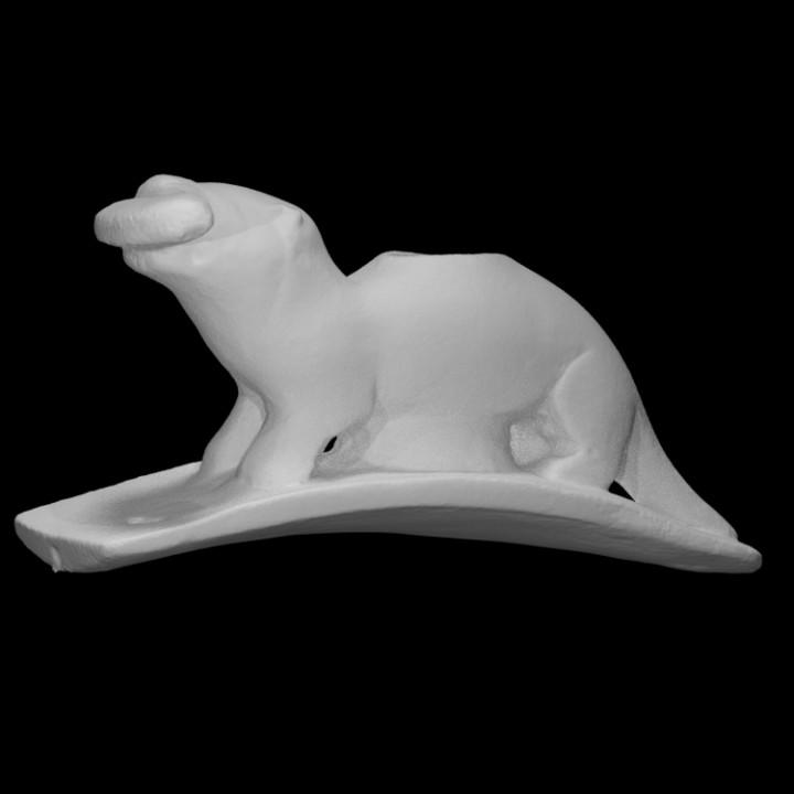 Otter Effigy Pipe