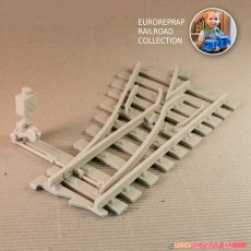 Turnout - left-hand (No7) with working point indicator! - Euroreprap Railroad System