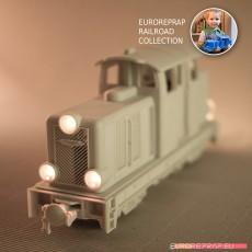 Diesel-02EL locomotive - LEGO/ERS compatibile, FDM 3D printable, ready for radio controlled engine/lights