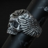 Ring skull Odin Viking with ravens and valknut for 3d printing image