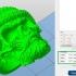 Skull ring with beard 3d model for 3d printing image