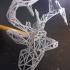 wire-frame deer head image