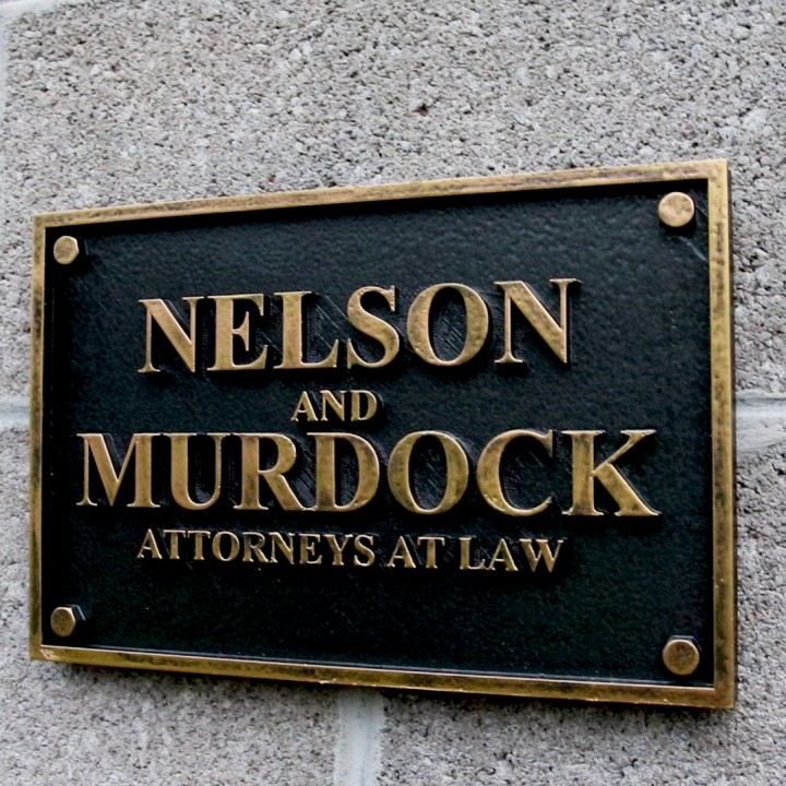 Daredevil Nelson and Murdock Attorneys at Law Sign