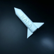 Picture of print of NASA rocket