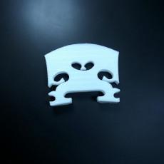 Picture of print of 3D printable violin bridge
