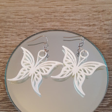 Picture of print of butterfly earring 2