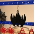 Halloween fun Earrings Jewellery Web Bat Spider image