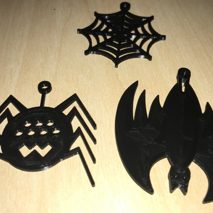 Halloween fun Earrings Jewellery Web Bat Spider