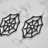Rhinestone Spider Web Earrings image