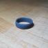 Fingerprint ring Wedding ring With Love 3D print model image