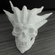 Picture of print of Horned Skull Ornament