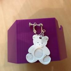 teddy bear earrings charm jewellery also avalible as multi colour
