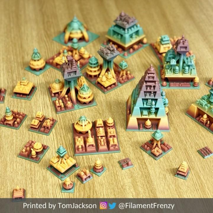3D Printable Procedural Space Cities by Fernando Jerez