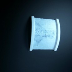 Picture of print of Curved Lithophane Design Tool