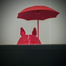 Picture of print of Totoro Tea Candle Holder With Umbrella