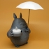 Totoro Tea Candle Holder With Umbrella image