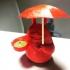 Totoro Tea Candle Holder With Umbrella print image
