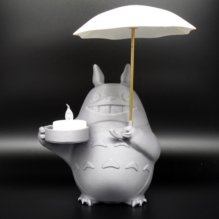 Totoro Tea Candle Holder With Umbrella