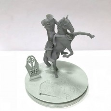 Picture of print of HeadLess Knight with Horse