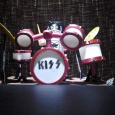 LEGO GIANT MASTER OF ROCK KISS DRUMS