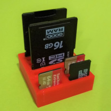 Picture of print of SD & MicroSD holder