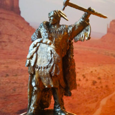 Picture of print of Lakota Sioux pipe tomahawk