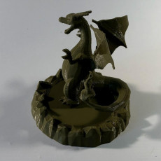 Picture of print of pokemon Charizard con base