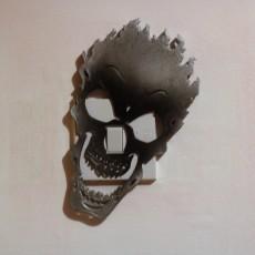 fire skull Light switch cover