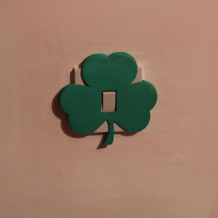 Shamrock Light switch cover