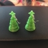 Christmas Tree earrings charm multi colour or one colour image