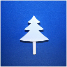 Picture of print of festive Christmas tree